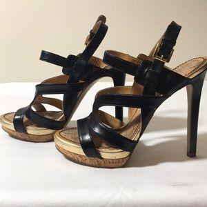 Platform Heels Black and Gold